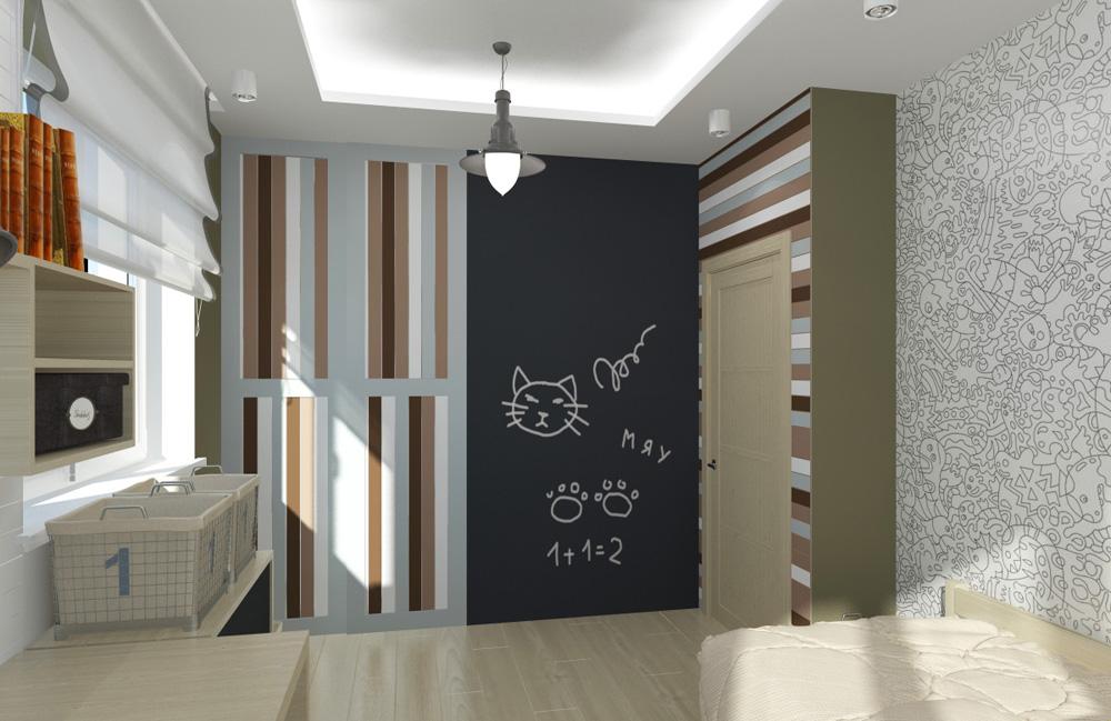 Дизайн интерьера 2-комнатная квартира
